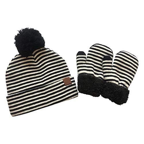 wenjuersty 2-teiliges Set aus Mütze und Handschuhen für Kleinkinder und Babys,...