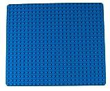 Strictly Briks Base apilable para Construir - Compatible con Todas Las Grandes Marcas - Tacos Grandes - 41,28 x 34,93 cm - Azul