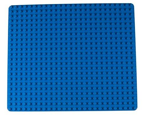 """Strictly Briks - Stapelbare Premium-Bauplatte - kompatibel mit Bausteinen Aller führenden Marken - nur für Steine mit großen Noppen geeignet - 16,25\"""" x 13,75\"""" (41,3 x 34,9 cm) - Blau"""