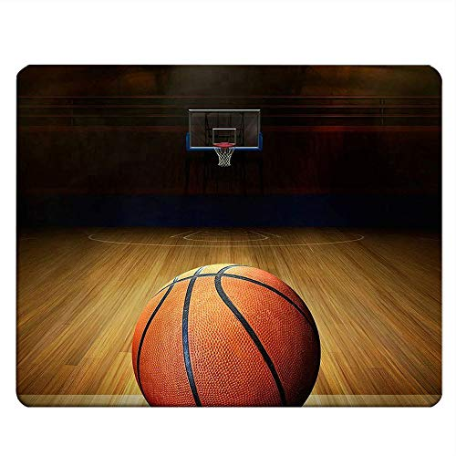 NICOKEE Sport Rectangle Gaming Mousepad Vintage Basketball Court Pattern Mouse Pad Mouse Mat for Computer Desk Laptop Office 9.5 X 7.9 Inch Non-Slip Rubber