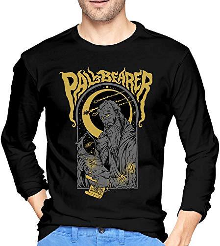 Pallbearer Band Men's T-Shirts Funny Long Sleeve Baseball Tees Black,Black,X-L