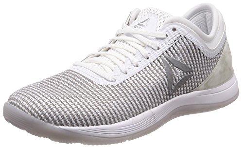Reebok R Crossfit Nano 8.0, Zapatillas de Deporte para Mujer, Blanco (White/Skull Grey/Pure Silver White/Skull Grey/Pure Silver), 37 EU