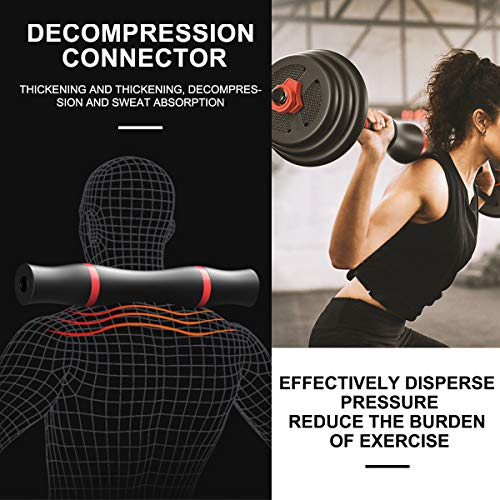 Tespon Adjustable Dumbbells Barbell 2 in 1 with Connector, Adjustable Dumbbell Barbell Sets 66lbs, Lifting Dumbells for Body Workout Home Gym(2020 Upgrade,One Pair) 2