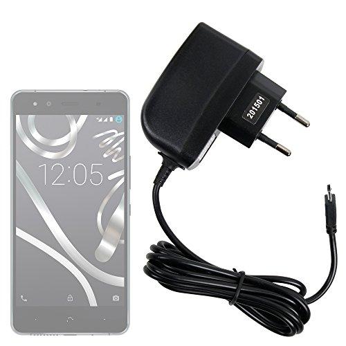 DURAGADGET Cargador (2 Amperios) para BQ Aquaris X5 Cyanogen Edition - con Conexión Micro USB Y Enchufe Europeo De Pared