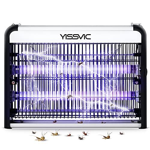 YISSVIC Lampada Antizanzare Elettrica Interno 20W, Zanzariera Elettrica Lampada con Luce UV, Grandi Dimensioni per Casa Giardino Interno Esterno
