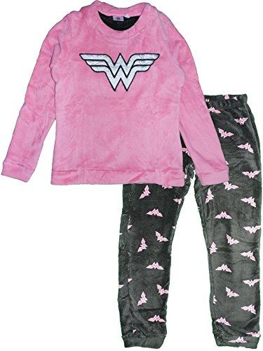DC Comics Wonder Woman Pijama Forro Polar Mujer Rosa