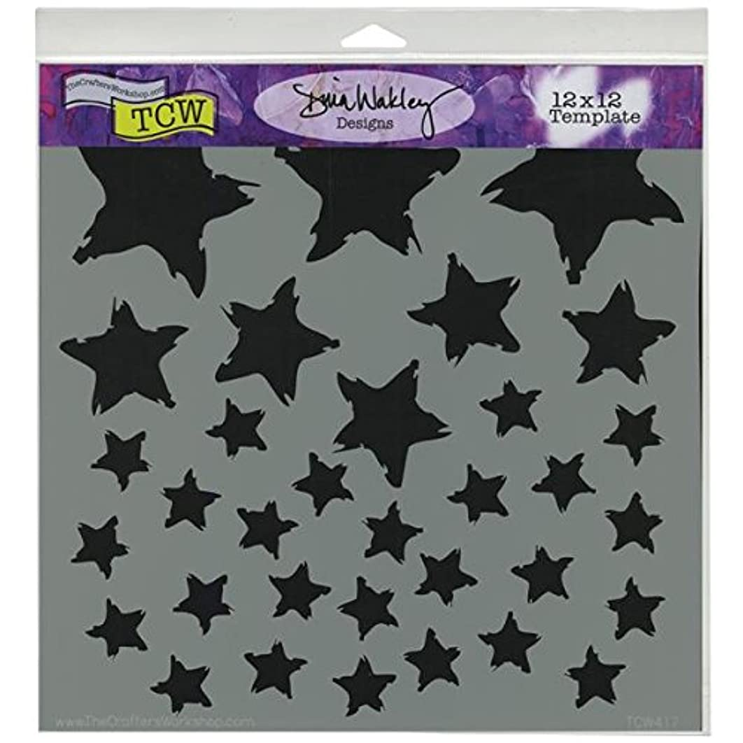CRAFTERS WORKSHOP Template, 12 by 12-Inch, Star Fall