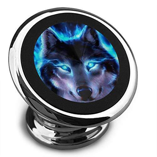 Amoyuan Magnetische Telefoonhouder 3D Cool Wolf Blauw Auto Telefoon Houders Voor Auto Met Een Super Sterke Magneet