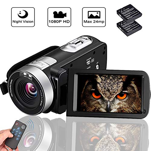 "Camcorder Digital Camera Full HD 1080p 18X Digital Zoom Night Vision Pause Function with 3.0""..."
