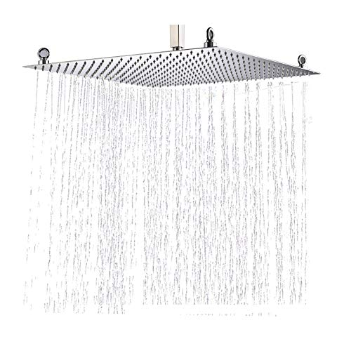Rozin Bathroom 20 Inches Rain Shower Head Chrome Brass Ultrathin Shower Top Sprayer Ceiling Mounted
