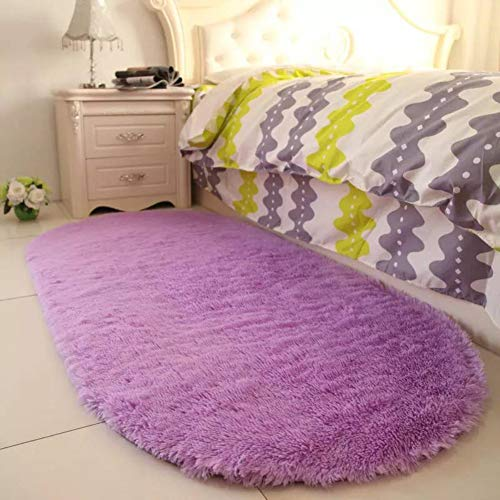 Purple Area Rugs for Girls Room Soft Fluffy Rugs for Kids Bedroom Nursery Decor Mats 2.6'x5.3'