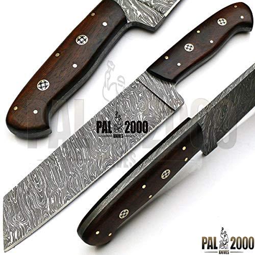 PAL 2000 Beste Handgemaakte Damascus Staal Keuken Messen - 7 Inch Volledige Tang Damascus Staal Chef Mes - Handgemaakte Damascus Keuken Mes Met Schede Kopen Met Vertrouwen 1071