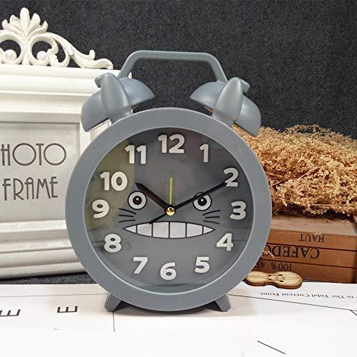 PILIFE Wecker Stehen Sie Kleinen Uhrkindstudenten-nachtwecker 13.5 * 4.2 * 18.2cm Auf 1049 Mein Nachbar Totoro Wecker Grau