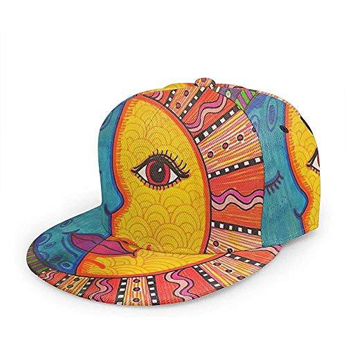 Egoa Gorra Diseño Cool-Mexican-Backgrounds Sombrero De Papá Adulto Acogedor Gorra De Béisbol Sombrero De Camionero Pesca Duradera Deportes Especiales Moda Hiphop Personalizado Unisex