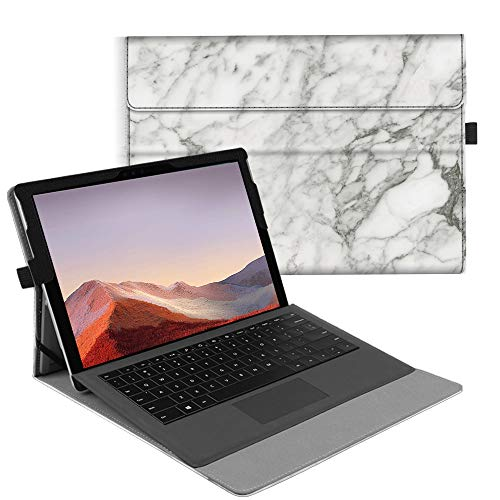Fintie Case for New Microsoft Surface Pro 7 / Pro 6 / Pro 5 / Pro 4 / Pro 3 12.3 Inch Tablet - Multiple Angle Viewing Portfolio Business Cover, Compatible with Type Cover Keyboard (Marble)