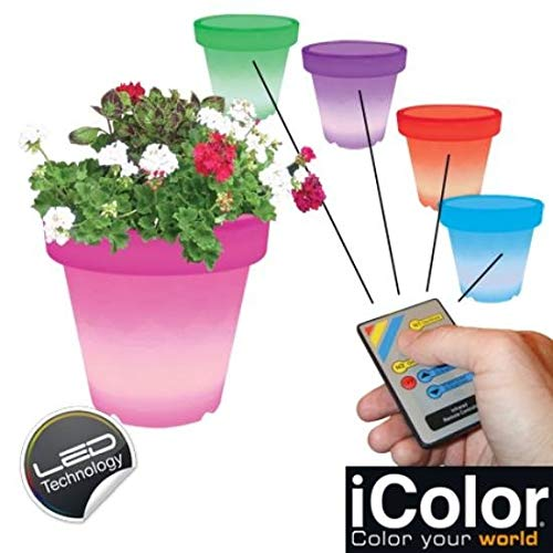 Icolor LED-lamp, bloempot