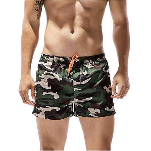 RANTA 2020 Neujahr Badehose für Herren Lang Mehr Taschen Badeshorts Männer Wasserabweisend Boardshorts Schnelltrocknend Jungen Beachshorts Schwimmshorts Bermudas mit Tunnelzug Einfarbig Schwarz