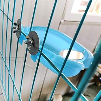 Generp Baignoire avec Toit Baignoire Accessoire pour Oiseau avec Miroir Petit Bol À Perroquet Feeder pour Perruches Et Perroquets 18.7 x 10 x3.5 cm 2019