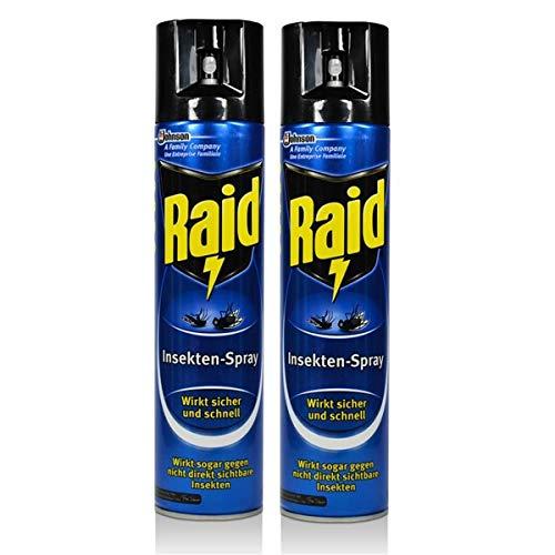2x Raid Insekten-Spray 400 ml - Wirkt...