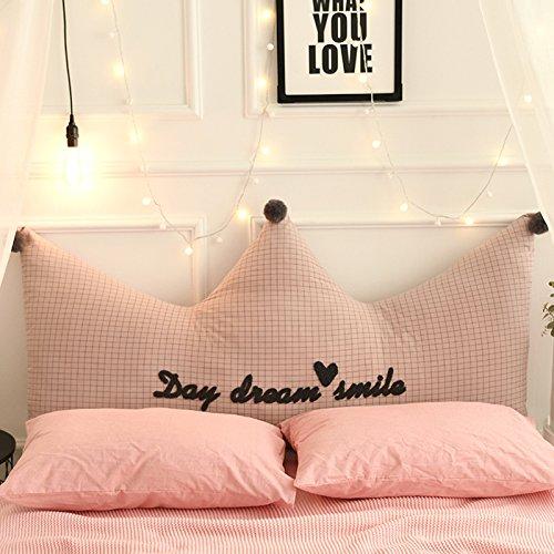 YIWANGO Bedside Kissen Krone Großes Schlafsofa Rücken 100% Baumwolle Super Weich/Abnehmbare Multi-Size,A-180x80cm