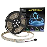 【SMD 5050 LED Rope Lights】There are 300pcs RGB color leds on 16.4ft flexible PCB board.On the back of PCB,there is double-side adhesive tape which can help you install it easier. (Only one strip in the package, DC 12V Power Adapter Not included). 【IP...