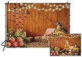 LTLYH 8X6FT Fall Thanksgiving Backdrop Rustic Wooden...