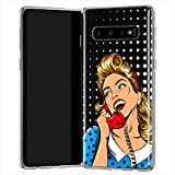 Lex Altern TPU Funda para Samsung Galaxy S20 Plus 5G S10e Note 10 9 Pinup Lady Delgado Glam Woman Su...