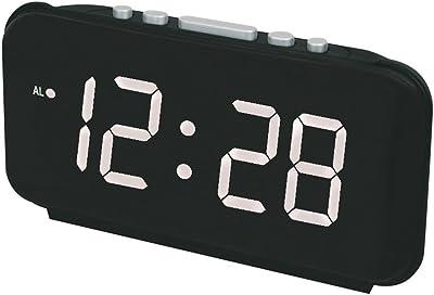 SYT Alarm Clock Reloj de Alarma LED Digital Números Relojes de Escritorio con Reloj electrónico con