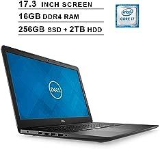 Dell 2019 Newest Inspiron 17 3780 17.3 Inch FHD 1080p Laptop (Intel 4-Core i7-8565U up to 4.6GHz, 16GB DDR4 RAM, 256GB SSD (Boot) + 2TB HDD, Intel UHD 620, WiFi, Bluetooth, HDMI, Win 10) (Renewed)