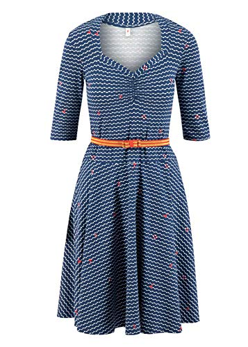 Blutsgeschwister Damen Kleid Suzie The Snake Dress Over The Ocean blau - S