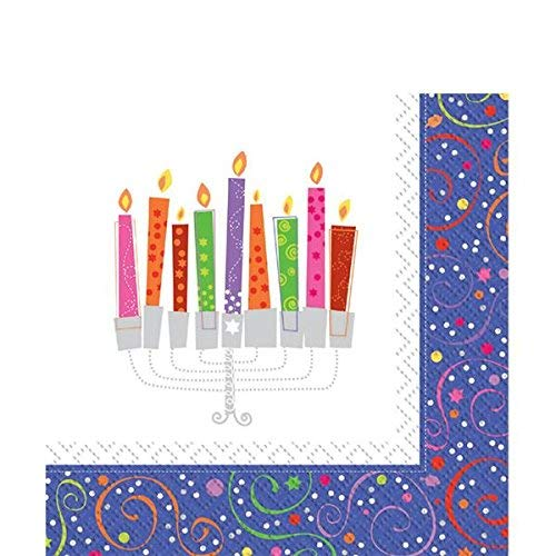Unique Party Celebrate Hanukkah Luncheon Napkins 2 Ply Pack Of 16