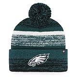 '47 Philadelphia Eagles Green Cuff Northward Beanie Hat with Pom - NFL Cuffed Winter Knit Toque Cap