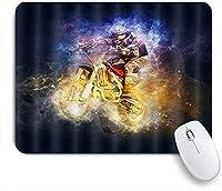 ZOMOY マウスパッド 個性的 おしゃれ 柔軟 かわいい ゴム製裏面 ゲーミングマウスパッド PC ノートパソコン オフィス用 デスクマット 滑り止め 耐久性が良い おもしろいパターン (レーシングドライバーオートバイ)