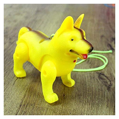 fleeting time GaoHR Divertido Caminata electrónica Juguete eléctrico Perro Mascota Ajuste para niños niño y Regalo Regalo Interactivo electrónico Mascotas Correa Perro (Color : Yellow)
