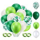 NHHEO Palloncini Verdi 60 Pezzi, Kit Palloncini Compleanno, Palloncini Confetti Verdi, Palloncini Colorati Misti, Paloncino per Festa Compleanno, Birthday Decoration (Verde)