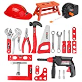 ExcLent 31Pcs Children Drill Tool Set Role Play Builders Building Construction Toy Repair Tool Kits