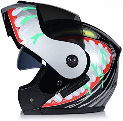 JMB PLeather Helme Motorradhelm Chopper Bike Helm Open Face Vintage Motorrad Helm Goggle Maske Integralhelm Motorrad, CC14, XL/61-62cm