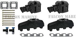 Mercruiser 330 340 MIE Chevy Marine 454 7.4 7.4L GLM Exhaust Manifolds+4