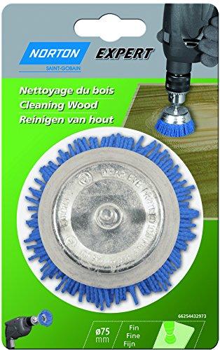 Norton 66254432973 Brosse Nylon Coupe pour Nettoyage du Bois, 75 mm