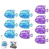AKlamater Paquete de 10 humidificadores limpiadores humidificadores universales azul/morado para tanque de peces humidificadores de niebla cálida y fría herramientas de limpieza de peces(azul+morado)