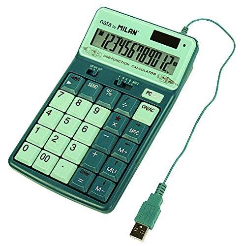 ミラン(MILAN)『電卓 12桁 テンキー機能付き(1504128GR)』