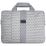 """VanGoddy Modern White Messenger Bag for MSI GT Series/Dominator/Prestige/Apache/Mobile Workstation/Phantom / 14""""-15.6in"""
