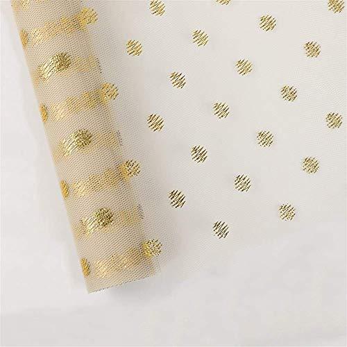 ZXL Struisvoering Gauze, Goudgaas Print Verjaardagscadeau Box Buitenkant Inpakpapier Slaapkamer De Winkel Gift Shop Decoratie 50 * 450CM Dubbelzijdige Wrapper (Kleur: C)