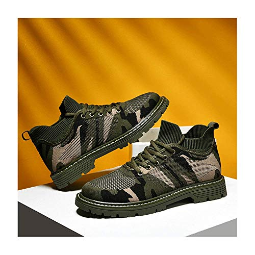 HaoLin Calzado para Acampar Al Aire Libre Zapatos Deportivos para Damas + Plantillas Zapatillas De Deporte Informales De Moda Zapatos De Mujer Zapatos Planos De Punta Redonda para Hombres,Green-38
