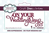 Sue Wilson Mini Expressions Collection-On Your Wedding Day, Metal, 9.2 x 3.5 cm