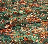 XIAOHUAHUA Märchen Malerei Rayon Seide Baumwollgewebe