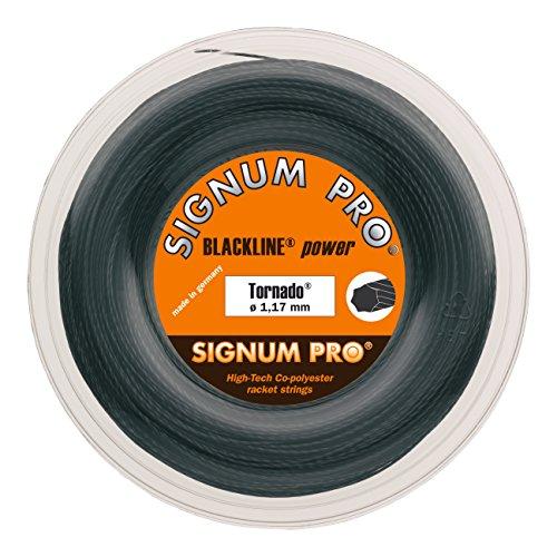 Signum Pro Tornado - Cuerda para Raqueta de Tenis, 200 m Negro Talla:1,29
