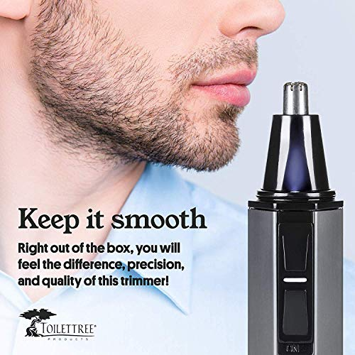 ToiletTree Products Water Resistant Heavy Duty Steel Nose Trimmer with LED Light, 2 Pack