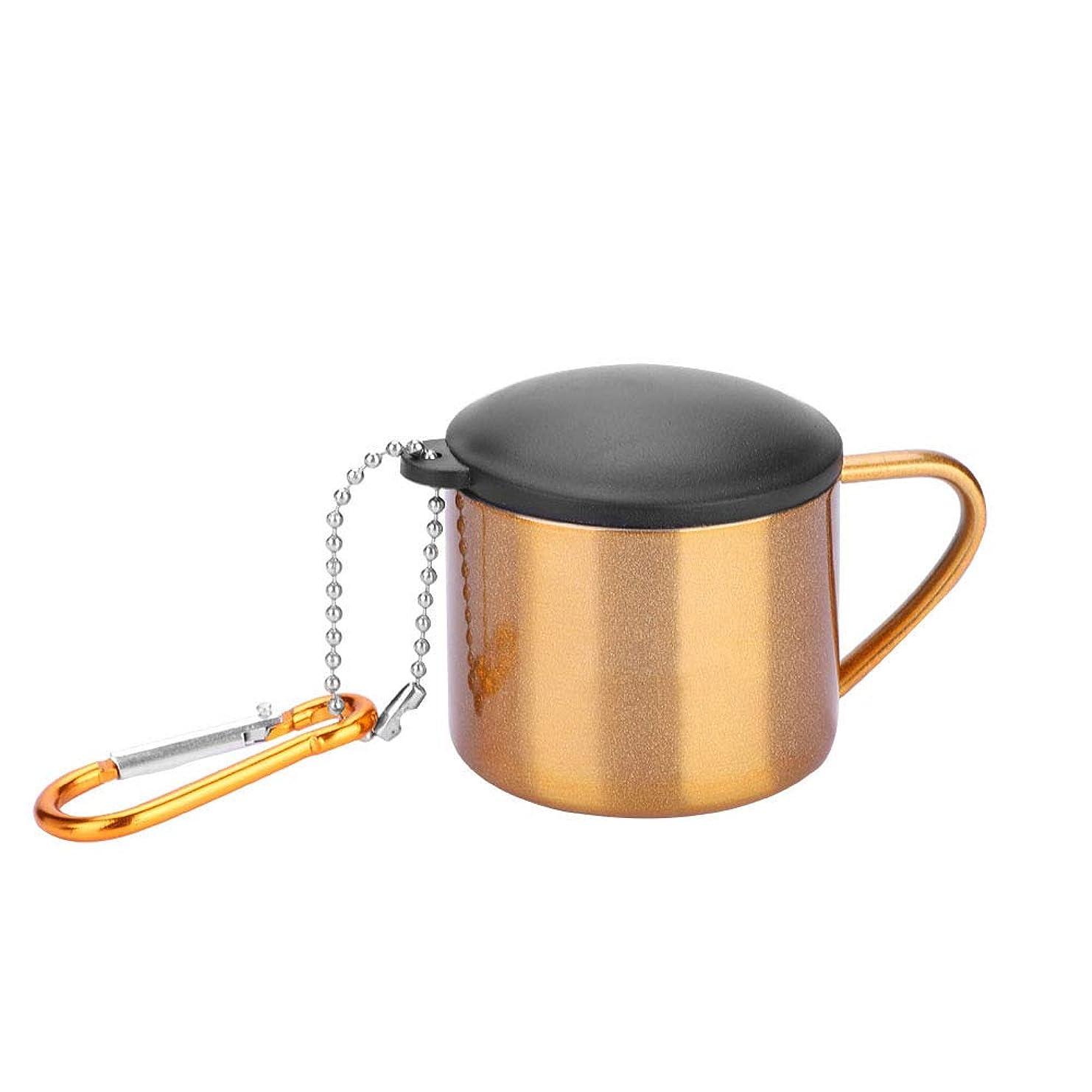 お酒誕生ぜいたくマグカップ ステンレス鋼 水筒 ウォーターカップ ふた付き 携帯マグ 軽量 使い勝 手良い(ゴールド)