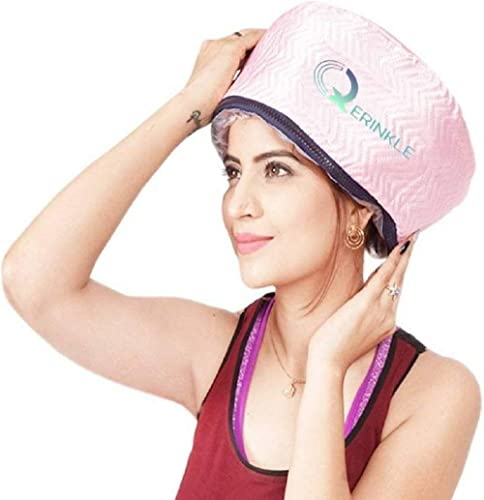 QERINKLE® Hair Care Thermal Head Spa Cap Treatment with Beauty Steamer Nourishing Heating Cap, Spa Cap For Hair, Spa ...